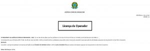 Licença de Operador EMSISTI® (código verificador 0083911 e CRC 96A10D47.